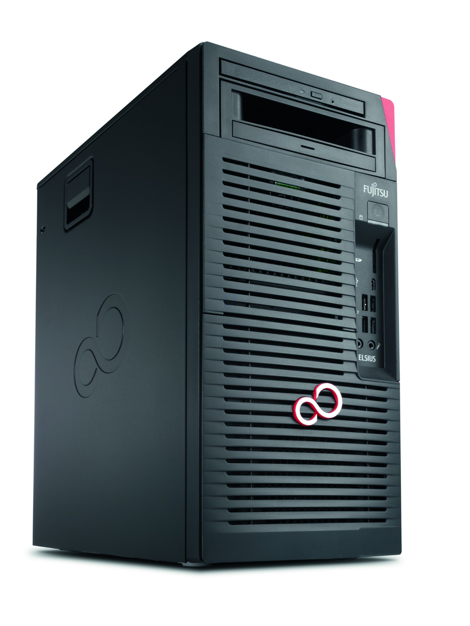 Fujitsu CELSIUS W570power+ 3.6GHz i7-7700 Desktop Black,Red Workstation