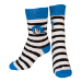SEGA Sonic the Hedgehog Adult Male Striped Sonic Face Crew Socks, 43/46, Multi-Colour (CR006122SEG-43/46)