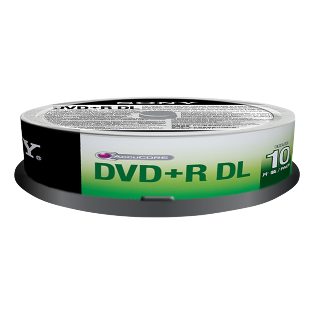 Sony DVD+R D.LAYER SPINDLE 10PCS