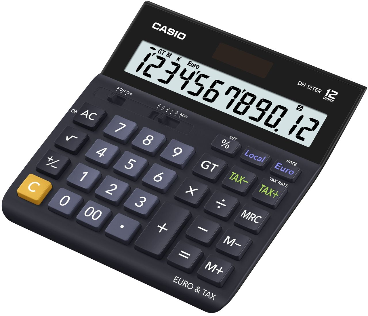 Desktop Basic Black calculator (DH-12TER)
