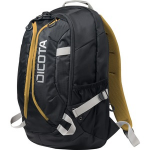 Dicota Backpack Active Laptop Bag 14-15.6inch  - Black/Yellow - Polyes