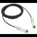 Extreme networks 1m SFP+ cable de fibra optica SFP+ Negro, Plata