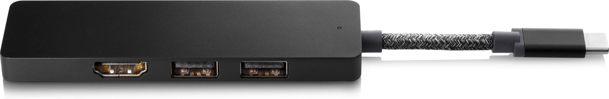 HP Gonzo 2 Wired USB 3.2 Gen 1 (3.1 Gen 1) Type-C Black