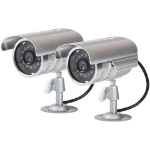 Proper Dummy Aluminium Security Camera Kit Metallic Bullet dummy security camera