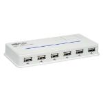 Tripp Lite 10-Port USB 2.0 480Mbit/s White interface hub