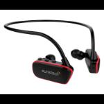 Sunstech Argos Reproductor de MP3 Rojo, Negro 8 GB