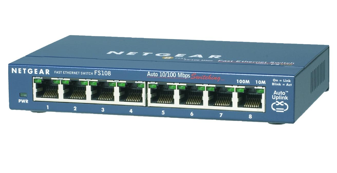 Netgear FS108-300PES switch No administrado L2 Fast Ethernet (10/100) Azul