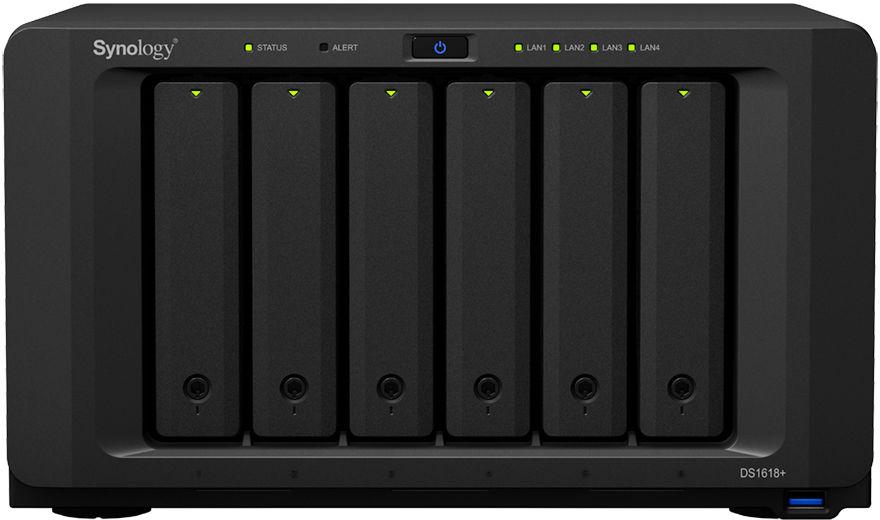 Synology DiskStation DS1618+ NAS/storage server Ethernet LAN Desktop Black