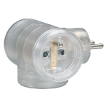 C2G 80805 Indoor 3AC outlet(s) Transparent power extension