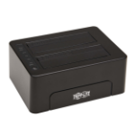 Tripp Lite 2-Bay USB 3.0 SATA Hard Drive Docking Station with Erase Function, 2.5 and 3.5 in. HDD and SSD