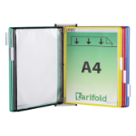 Tarifold A4 Magnetic Wall Unit with 10 Assorted Pockets