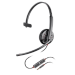 Plantronics Blackwire 215 mobile headset Monaural Head-band Black Wired