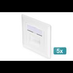 Digitus CAT 6, Class E, wall outlet, flush mount