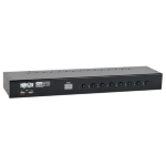 Tripp Lite 8-Port 1U Rack-Mount DVI / USB KVM Switch with Audio and 2-port USB Hub