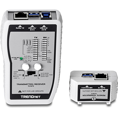 Trendnet TC-NT3 network cable tester Silver