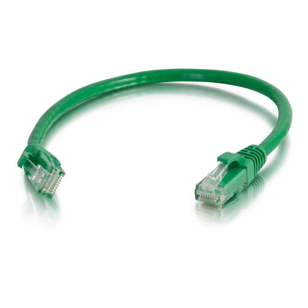 C2G Cable de conexión de red de 2 m Cat6 sin blindaje y con funda (UTP), color verde