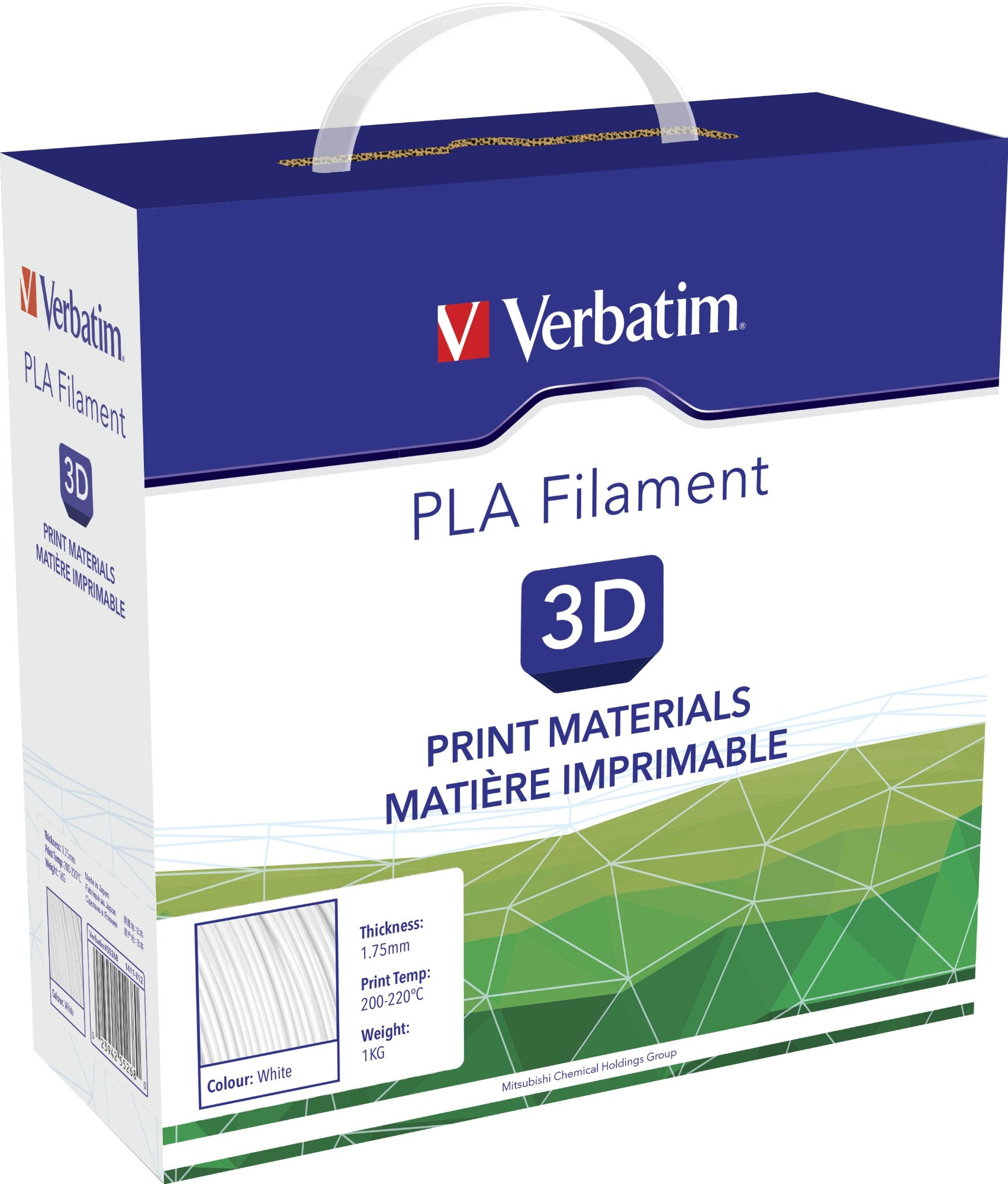 Vb55268 Verbatim 3d Printer Filament High Quality And Inexpensive Pla 1.75mm White 1kg