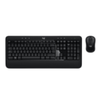 Logitech ADVANCED Combo toetsenbord RF Draadloos AZERTY Frans Zwart