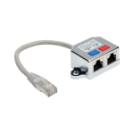 Tripp Lite 2-to-1 RJ45 Splitter Adapter Cable, 10/100 Ethernet Cat5/Cat5e (M/2xF), 15.24 cm