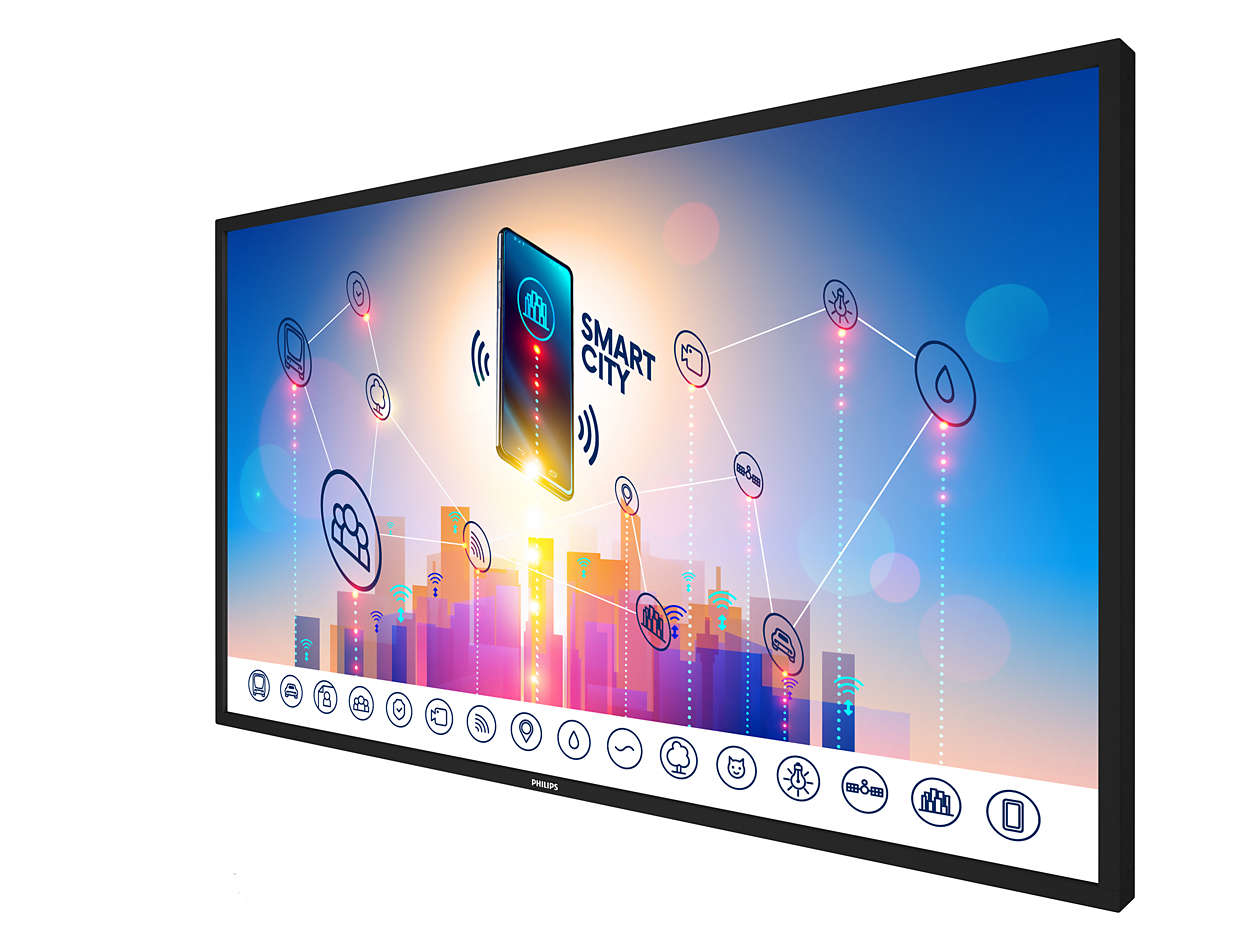 """Philips 86BDL3012T/00 signage display 2.17 m (85.6"""") 4K Ultra HD Touchscreen Black"""