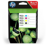 HP 3HZ52AE (953XL) Ink cartridge multi pack, 42,5ml + 3x20,5ml, Pack qty 4