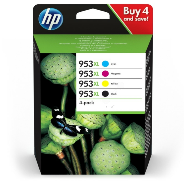 HP 3HZ52AE#301 (953XL) Ink cartridge multi pack, 42,5ml + 3x20,5ml, Pack qty 4