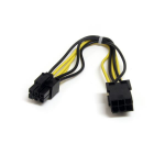 StarTech.com PCIEPOWEXT Internal 0.15m PCI-E (6-pin) PCI-E (6-pin) Black,Yellow power cable