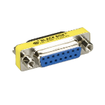 Black Box FA455-R2 cable gender changer DB15 Silver, Yellow
