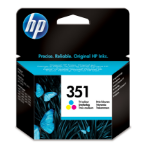 HP 351 Origineel Cyaan, Magenta, Geel 1 stuk(s) Normaal rendement