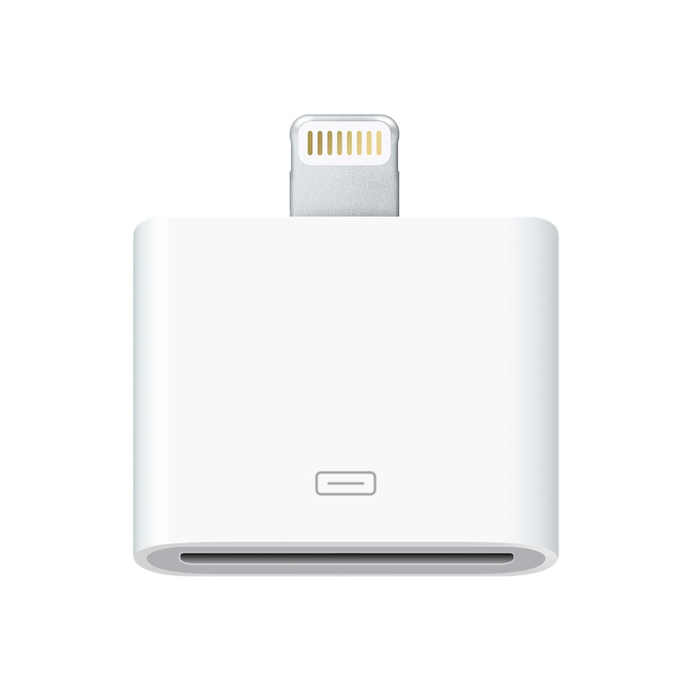 Apple MD823ZM/A Lightning to 30-Pin Adapter  - White, Official by Apple (MD823ZM/A)