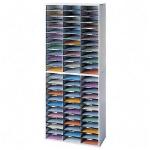 Fellowes 25121 literature rack 72 shelves Grey, White