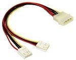 C2G 5.25in/3.5in Internal Power Y-Cable Molex 2x 4-Pin Mini Socket