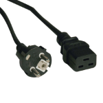"Tripp Lite P050-008 power cable Black 96.1"" (2.44 m) C19 coupler CEE7/7"