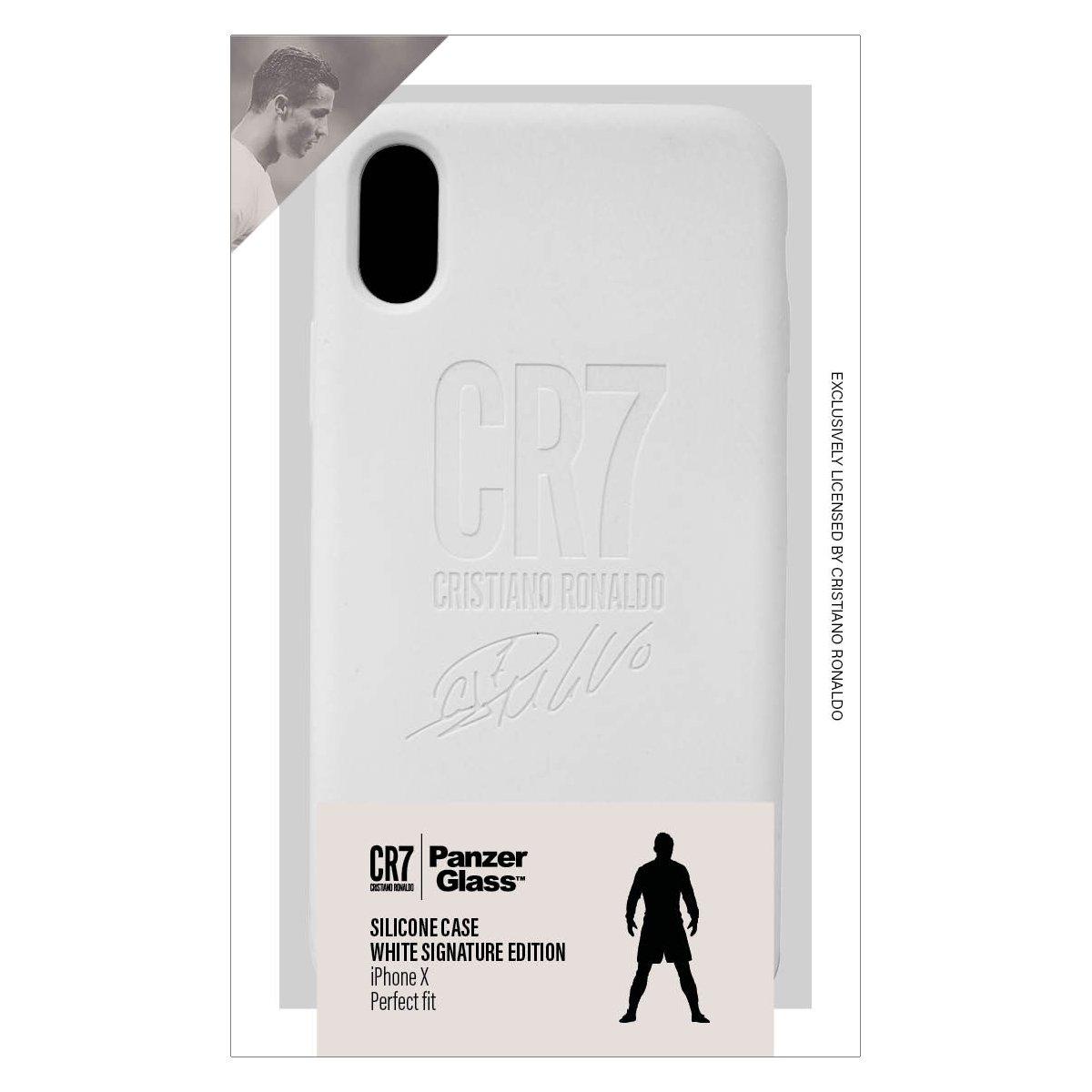 CR7 SILICON CASE WHITE SIGNATURE IPHONE X