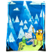 ADVENTURE TIME Jake and Finn Blue Mountain Drawstring Gym Bag, Blue (CI3563ADV)