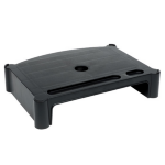 LEBLOC stackable 65mm monitor riser/stand in black; designed for TFT displays; product footprint 310 x 230m