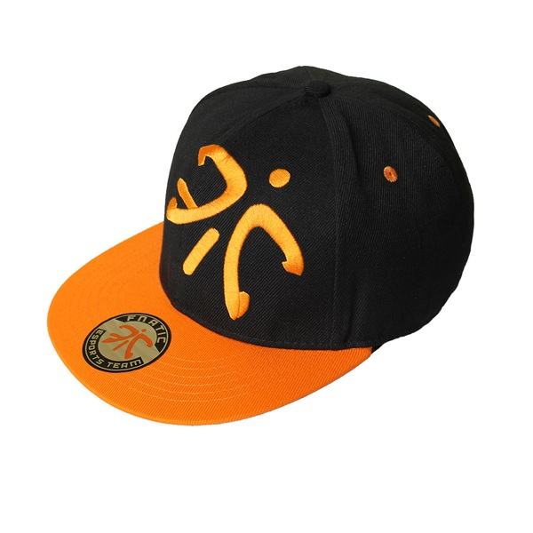 Fnatic Black Flat Cap With Logo