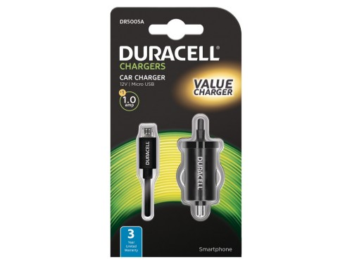 Duracell 12V 1A Car Charger (Micro USB)