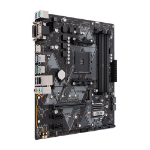 ASUS AMD AM4 mATX motherboard with Aura Sync RGB header, DDR4 3200MHz, M.2, HDMI 2.0b, SATA 6Gbps and USB
