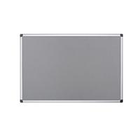 Bi-Office Maya Grey Felt Noticeboard Alu Frame 90x60cm