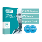 Eset NOD32 Antivirus (Essential Protection) 1 Device 2 Years - Includes 1x Physical Printed Download Card