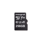 Integral INMSDX256G-100V30 256GB MICRO SD CARD MICROSDXC UHS-1 U3 CL10 V30 A1 UP TO 100MBS READ 45MBS WRITE memory card MicroSD UHS-I