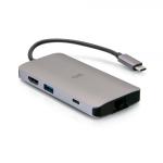 C2G C2G54458 notebook dock/port replicator Wired USB 3.2 Gen 1 (3.1 Gen 1) Type-C Black, Gray