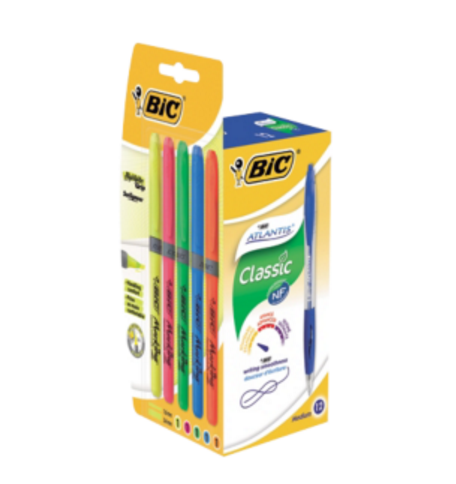 BIC ATLANTIS RETRACT BPEN BLU 949845