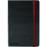 Black n' Red Black By Black n Red Casebound Notebook 90gsm Ruled and Numbered 144pp A5 Ref 400033673
