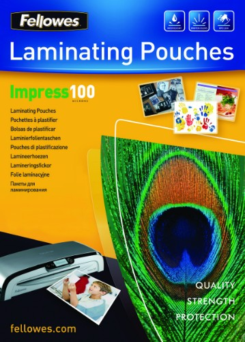 Fellowes A3 Glossy 100 Micron Laminating Pouch - 100 pack