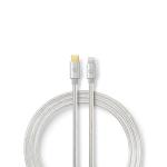 Nedis CCTB39650AL20 lightning cable 2 m Aluminium
