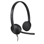 Logitech H340 Binaural Head-band Black headset 981-000475