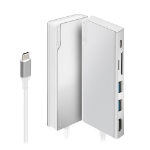 ALOGIC Ultra USB-C Dock UNI - 2 x USB-A (USB 3.0); 1 x USB-C (Data/PD 100W); 1 x SD Card Slot; 1 x Micro SD Card Slot; 1 x HDMI 4K @30Hz - Silver