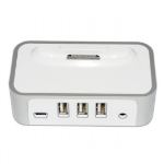 CyberPower USB Power Port - Ipod/Iphone Dock with USB Hub - 1 Yr Adv. Replacement